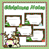 Free Christmas Note to students   Something I admire about you...