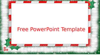 Free Christmas Powerpoint Template By Growing Giggles Tpt