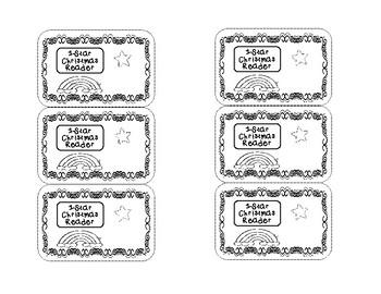 Christmas Reward Badges (Black and white)