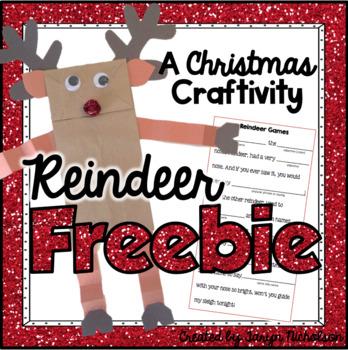 Free Christmas Reindeer Craft