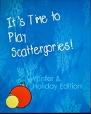 Winter / Christmas Themed Scattergories Holiday Game -