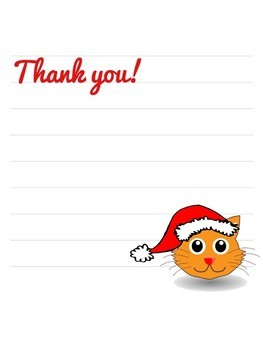 Free Christmas Thank You Note Writing Paper