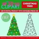 Free Christmas Tree Clip Art (Digital Use Ok!)