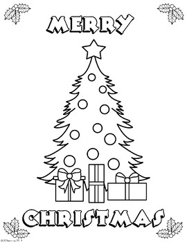 christmas tree coloring page worksheets teaching resources tpt christmas tree coloring page worksheets