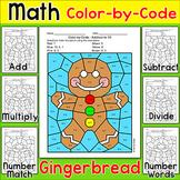 Gingerbread Man Christmas Math Activity: Add, Subtract, Multiply, Divide, Match