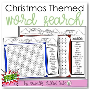 FREE! Christmas Word Search