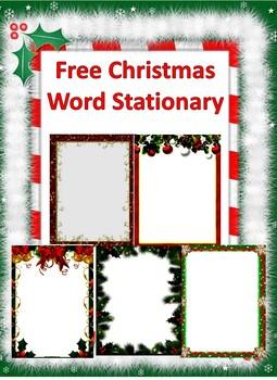 Free Christmas Word Stationary