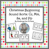 Free Christmas and Winter Beginning Sound Sort Cut and Paste