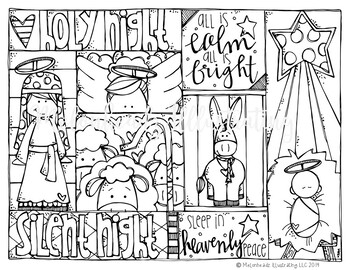 Free Christmas coloring page - Silent Night - by Melonheadz
