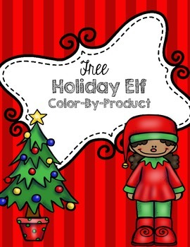 Free Christmas or Holiday Color-By-Product Picture: Elf Girl