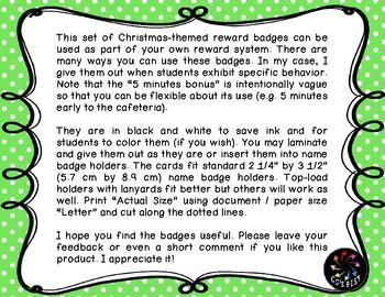 Reward Badges