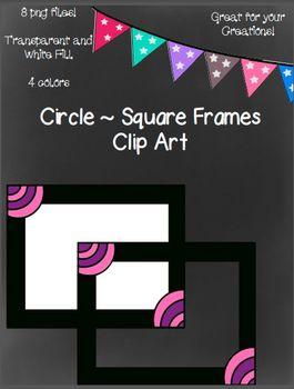 Free Circle Square Frames
