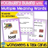 Homonyms Activities 4 | Vocabulary Picture Task Cards | Mu