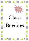 Free Classroom Borders Balls
