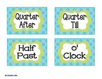 Free Classroom Clock Labels
