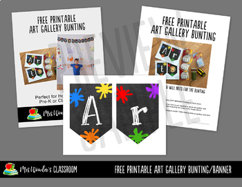 Free Classroom Decor - Printable Art Gallery Bunting