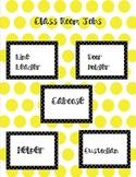 *Free* Classroom Job Labels