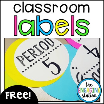 photo relating to Free Printable Classroom Labels With Pictures named Absolutely free Clroom Labels Worksheets Training Products TpT