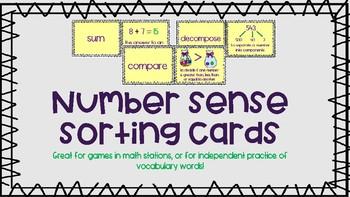 Number Sense Sorting Cards - Free Sample!