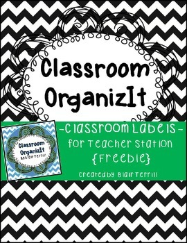 Classroom Labels Black {Chevron}