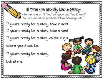 Behavior Management Free Management Poems and Chants For Pre-K-2