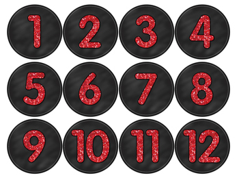 Free Classroom Number Labels