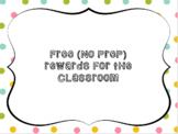 Free Classroom Reward Coupon Cards