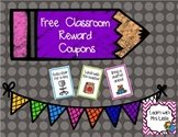 Free Classroom Reward Coupons