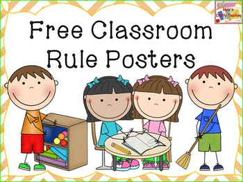 Classroom Rules - Free - In Chevron and Polka dots