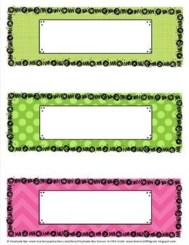 Classroom Signs & Labels