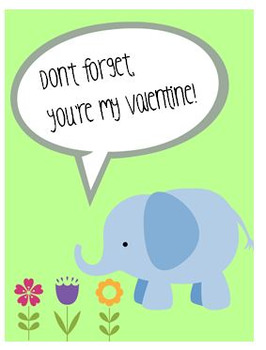 Free Classroom Valentines - Cute Animals