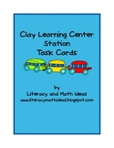 Free Clay Learning Center Task Cards