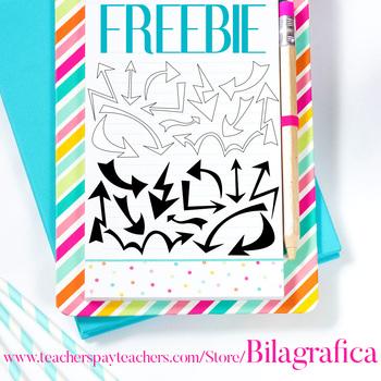 Free Clip Art - Arrows Black and White