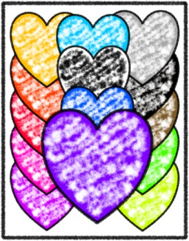 Free Clip Art - Commercial Use - 14 Foggy Hearts - PNG For