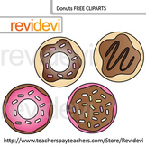 Free Clip Art Donuts by Revidevi