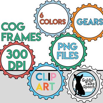 Clip Art | Frames | Cog png frames |Gears | For Commercial Use