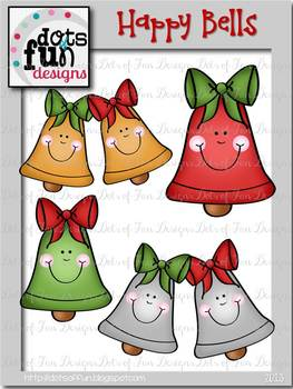 Free Clip Art: Happy Bells ~Dots of Fun Designs~