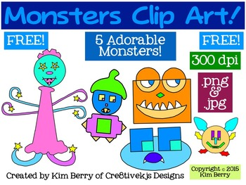 Free Clip Art:  Monsters!