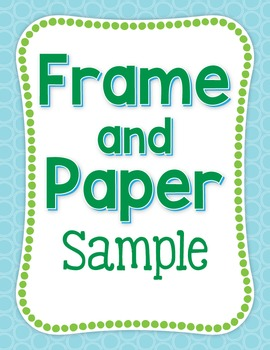 Free Clip Art:  Pond Digital Papers and Dotty Frames