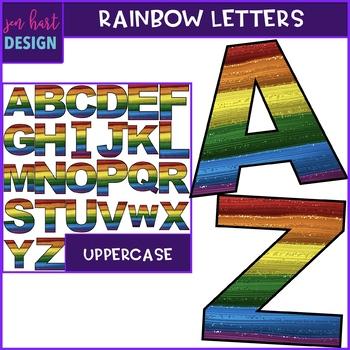 Alphabet Letters Clip Art - Rainbow Letters Freebie {jen hart Clip Art)