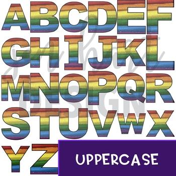 Alphabet Letters Clip Art - Rainbow Letters Freebie {jen hart Clip Art}