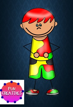 Free Clip Art- Red haired Fun Boy