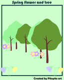 Free Clip Art Spring Flower and Tree