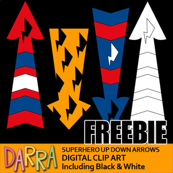 Free Clip Art Superhero Arrows Up Down Clipart