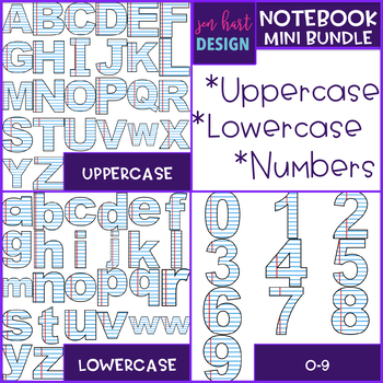 Notebook Paper  Letters and Numbers Clip Art {jen hart Clip Art}