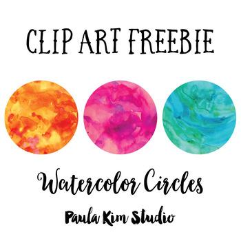 Free Clip Art Watercolor Circles