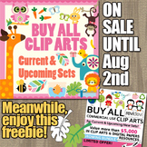 Free Clip Art and Big Sale for Growing Bundle Buy Everythi