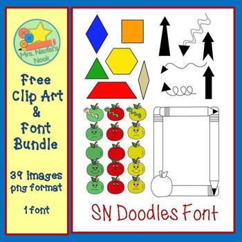 Free Clip Art and Font Bundle