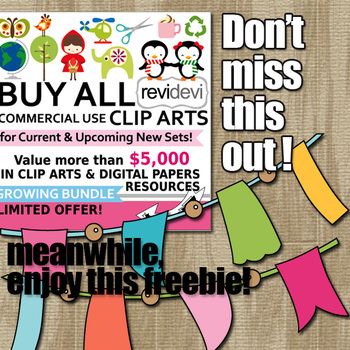 Free Clip Art for Classroom Decor - Clipart Freebie by REVIDEVI