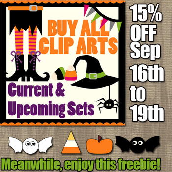 Free Clip Art for Halloween Activities and Sale for Buy All Revidevi Clipart